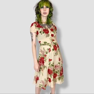 MOSCHINO vintage late 90s cottagecore mini dress